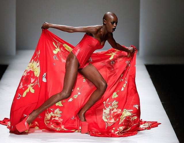 Model nearly falls on stage during Lagos Fashion Week