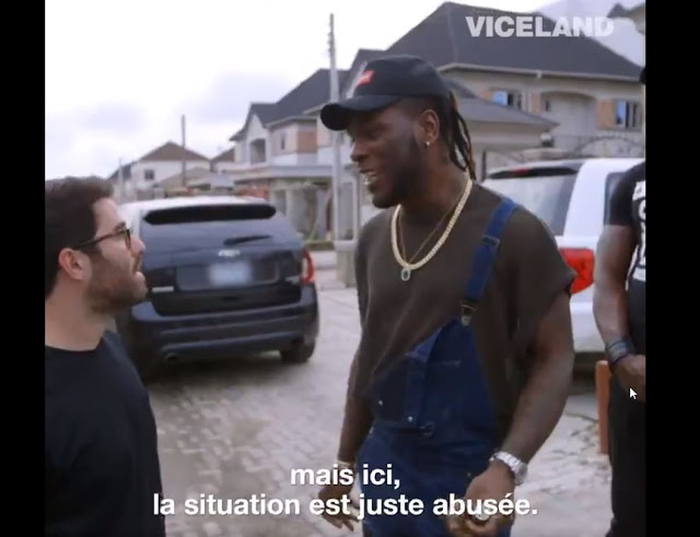 Video of Burna Boy walking out on an Interview with VICE TV