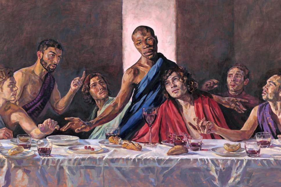 UK church replaces Last Supper painting with 'Black Jesus'
