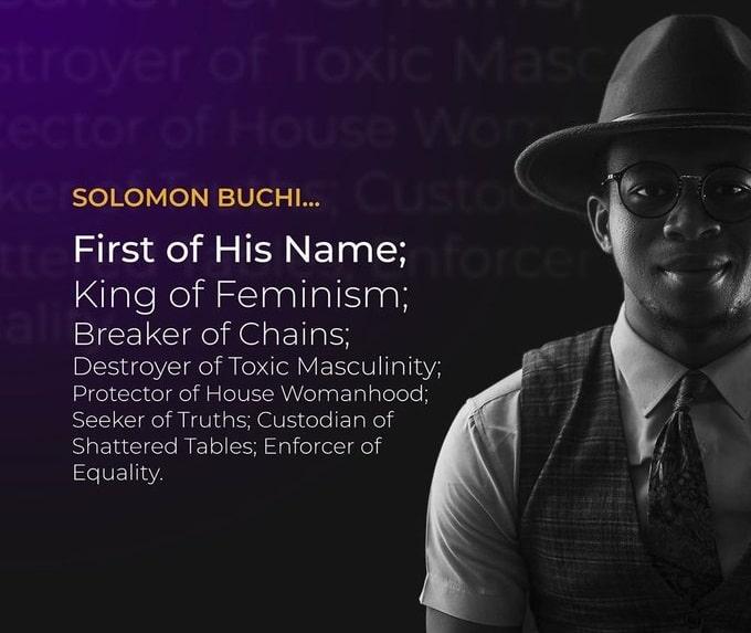 "Nigerian man mocked after proclaiming himself ""King of Feminism"""