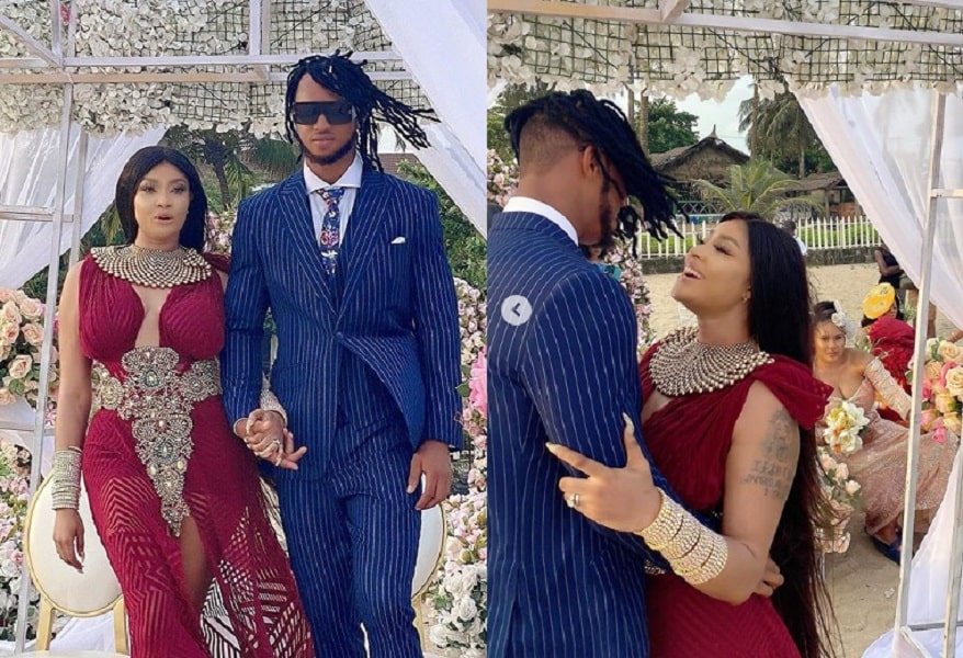 Nollywood actress Angela Okorie marries her sweetheart in romantic beach wedding