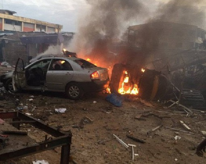 Major explosion in Ajao Estate, Lagos this evening, many feared dead – Watch video