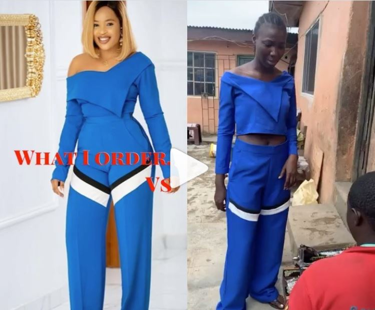 Customer calls out BBNaija Enkay over oversized outfit she paid N16K for