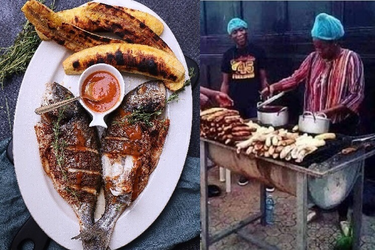 Photos of BBNaija Lucy roasting bole in Abuja emerge online