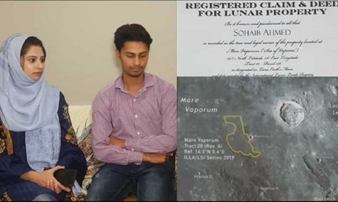 Pakistani man buys land on the moon for his new wife