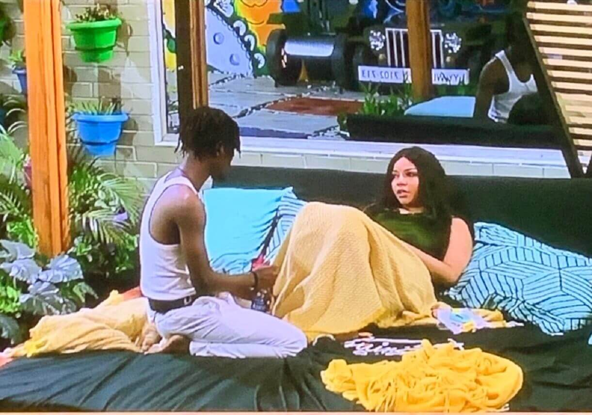 BBNaija Nengi cries after Ozo ignores her at Saturday All-White party