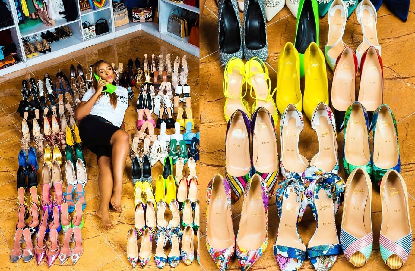 Linda Ikeji marks 40th birthday with 80 pairs of shoes