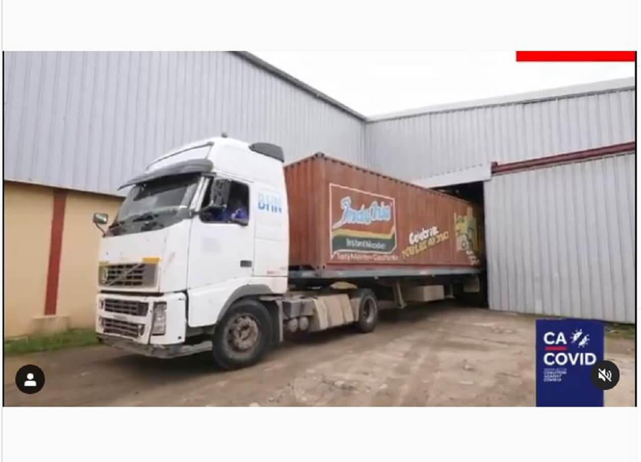 Video shows COVID-19 palliatives stored in Lagos warehouse were delivered May 1