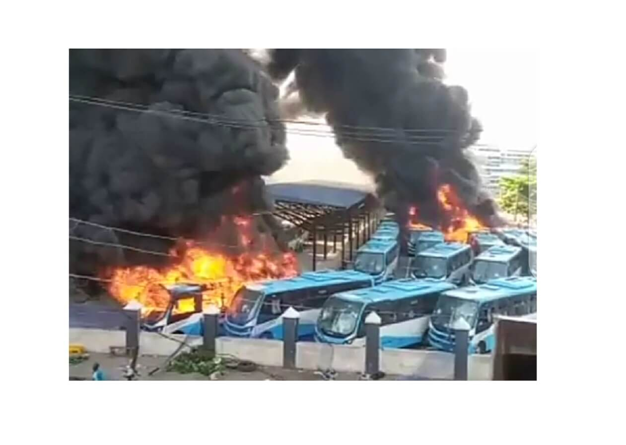 All the places angry mobs vandalized and burnt in Lagos today – October 21