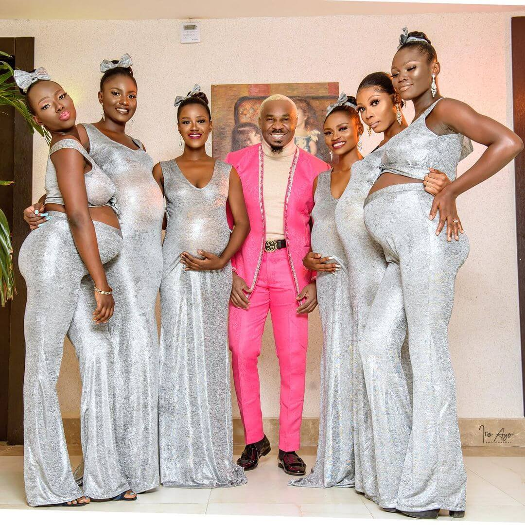 Pretty Mike takes 6 pregnant women to Williams Uchemba's wedding – PHOTOS