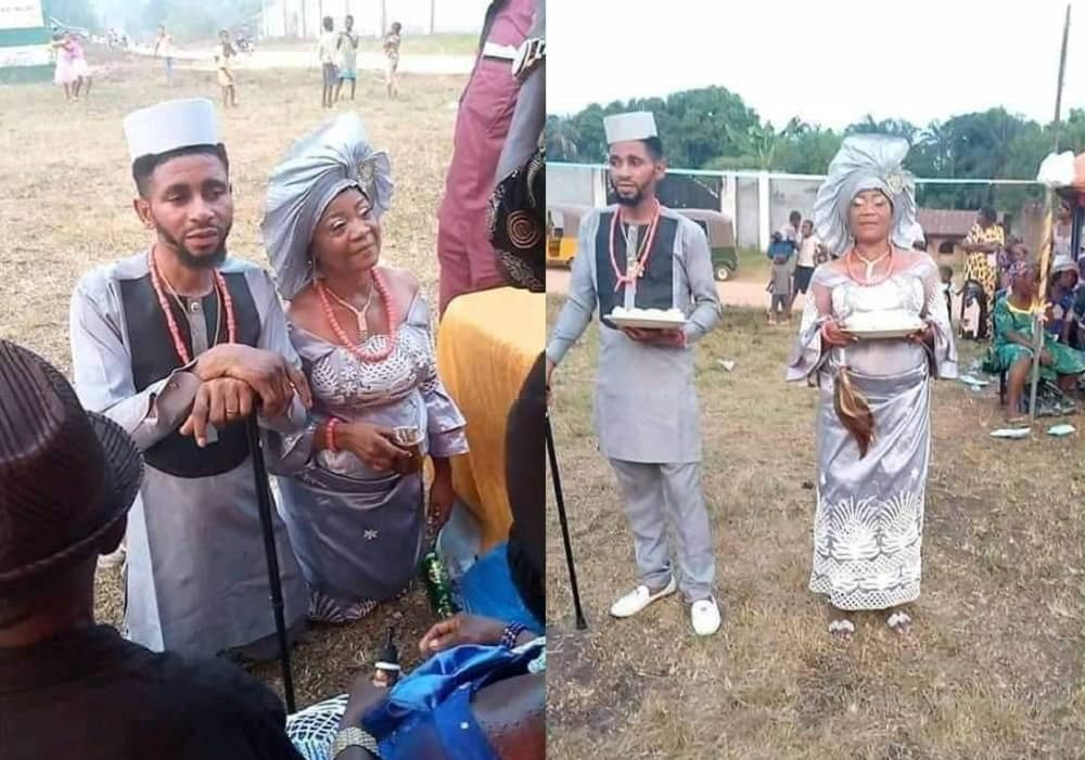 Nigerian man's wedding to significantly older woman stirs controversy