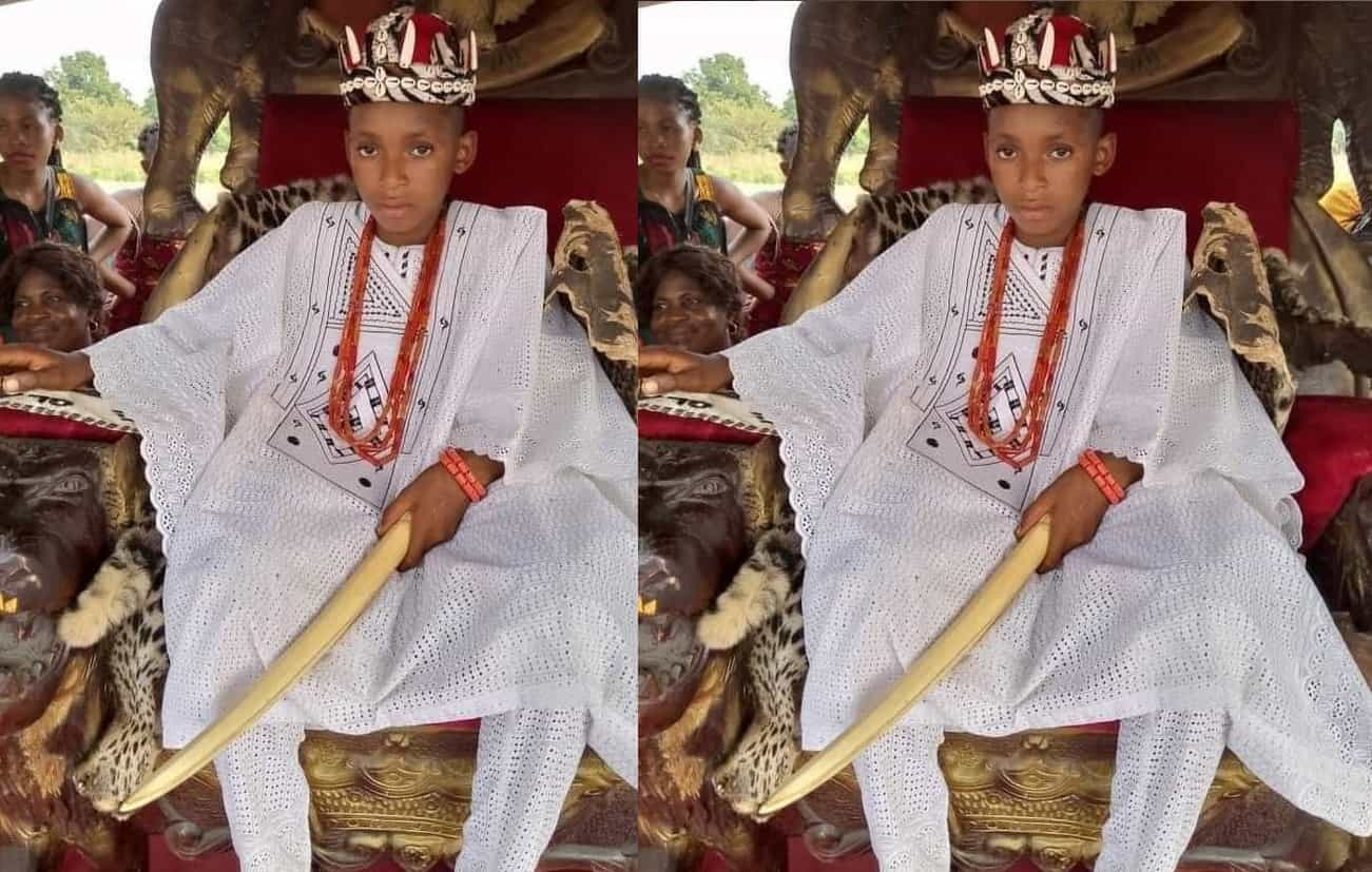 10-year-old boy crowned King in Anambra State after father's death