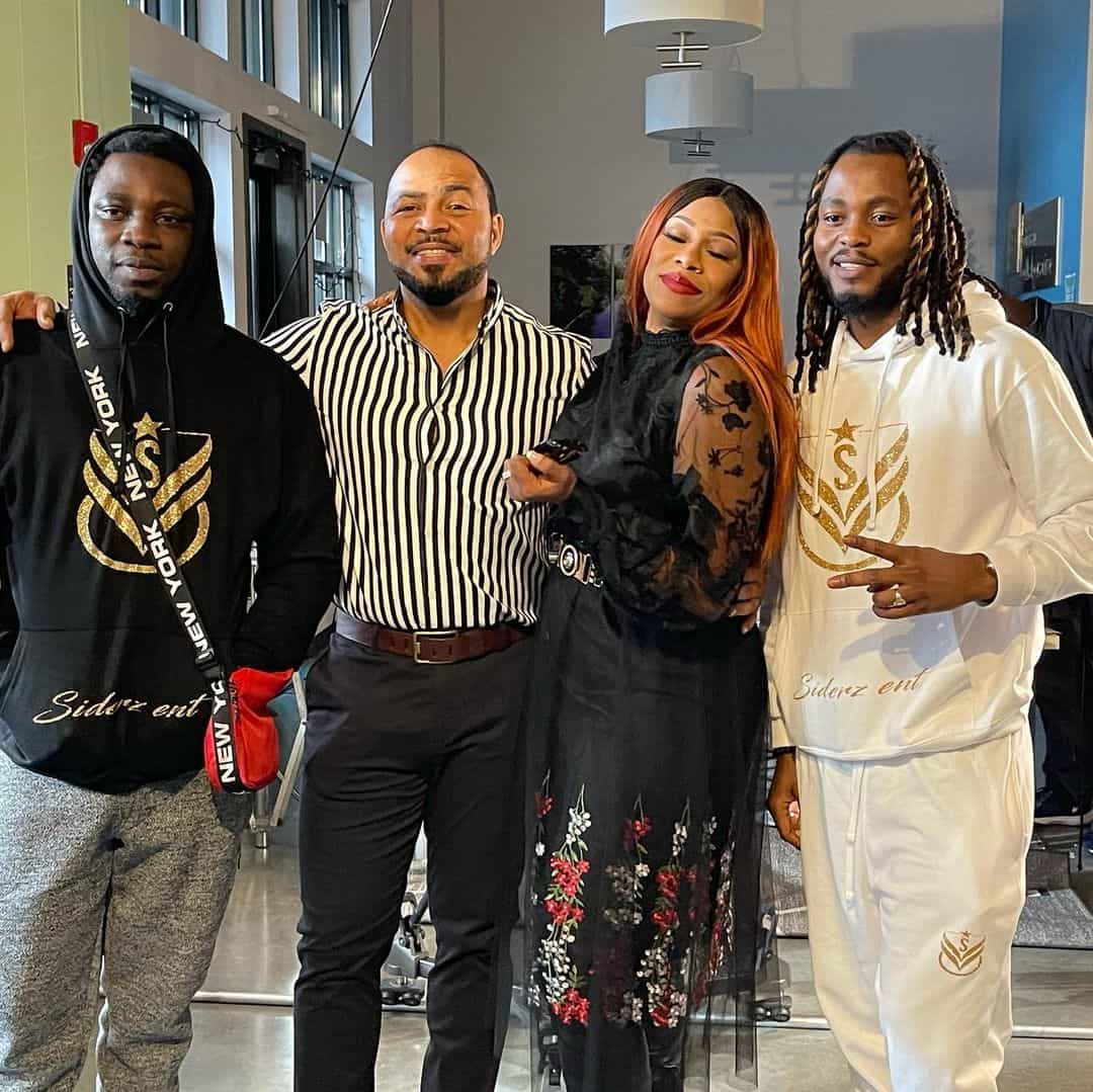Regina Askia returns to acting, on set with Ramsey Nouah, others