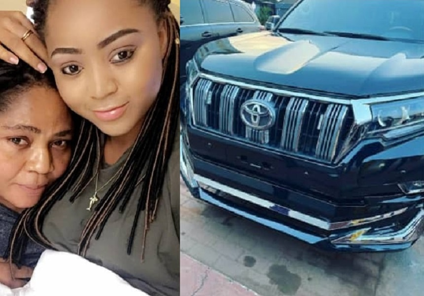 Regina Daniels surprises mom with N15m Prado Jeep on her birthday