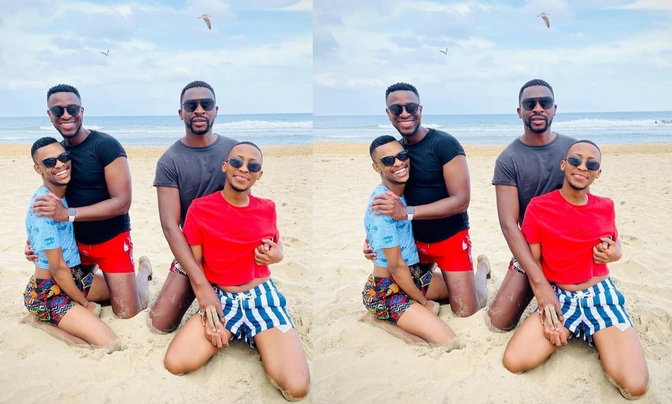 Two South African gay couples go on double date at the beach