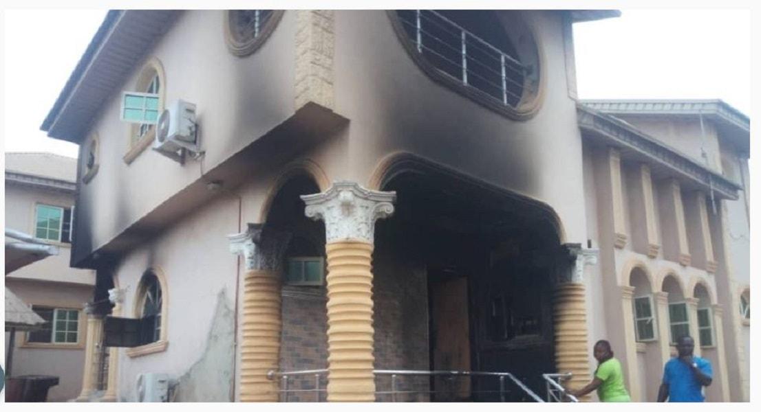Sunday Igboho's house in Ibadan burnt, he reacts